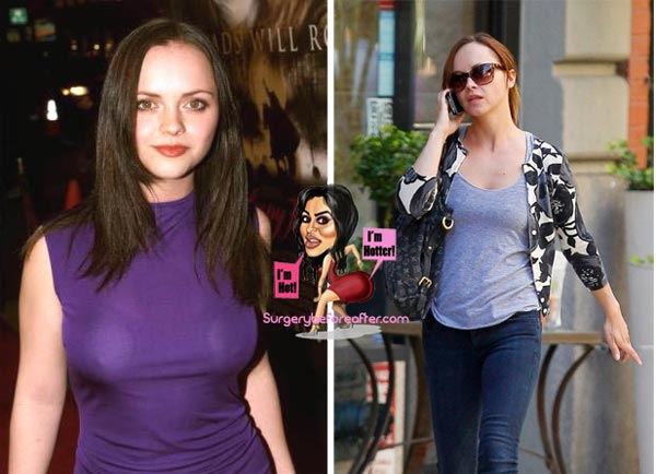 Christina Ricci Breast Reduction