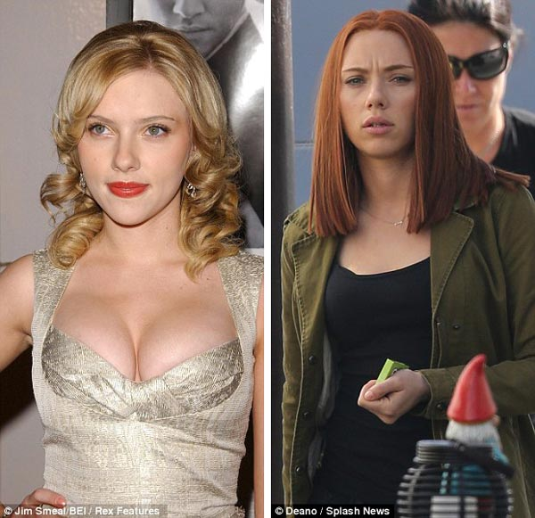 Scarlett Johansson Boob Job Before & After